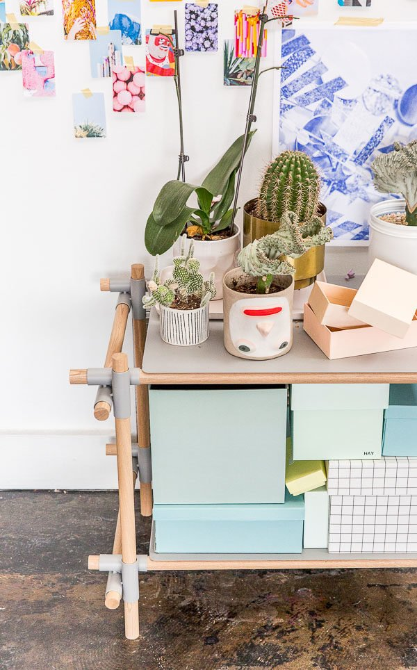 Take a tour of the creative (and colorful) studio of Paper & Stitch