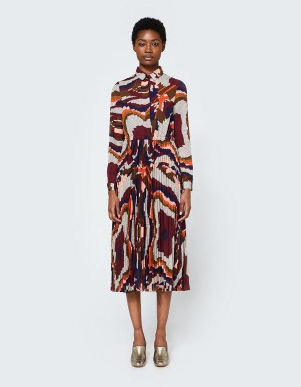 Farrow bea pleated dress from Need Supply