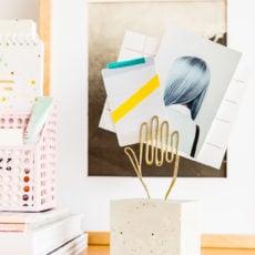Oh, Make Me Over: A Modern DIY Desk Accessory