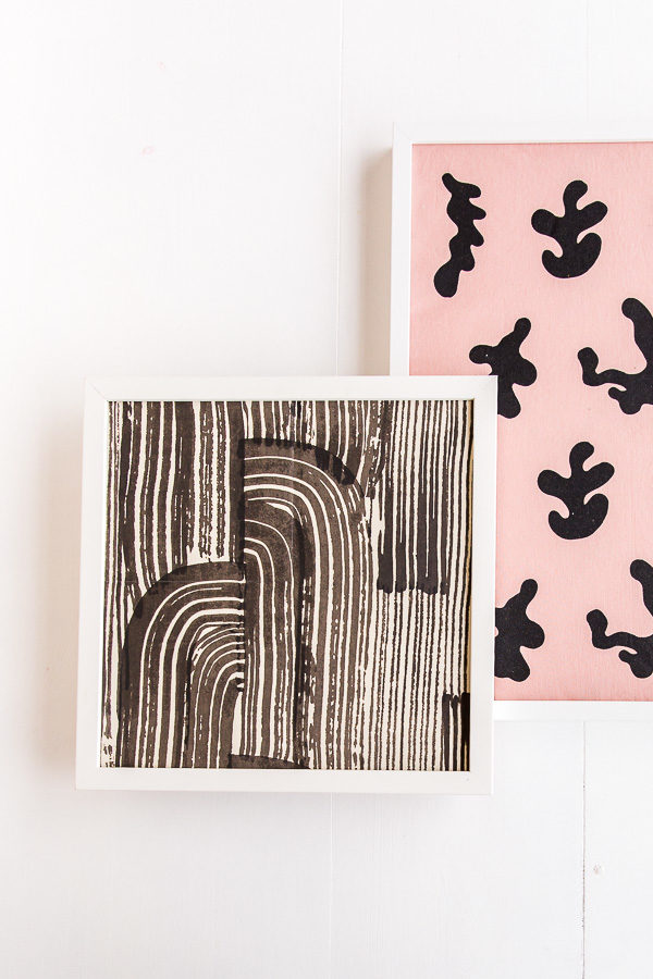 Use scraps of wallpaper to create DIY artwork in 5 minutes or less