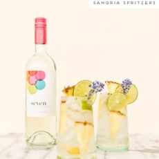 The Pineapple of My Eye: Pineapple Lime Sangria Spritzers for Spring