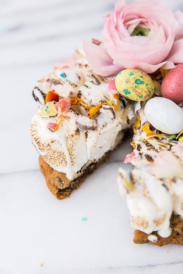 Easter s'more dessert pizza recipe.