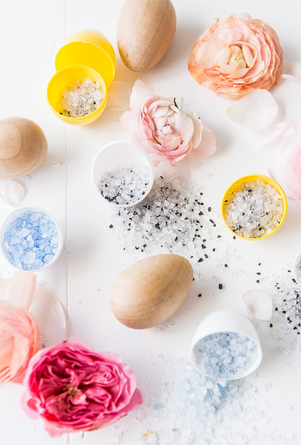 How to Make DIY Bath Salt Easter Egg Bombs