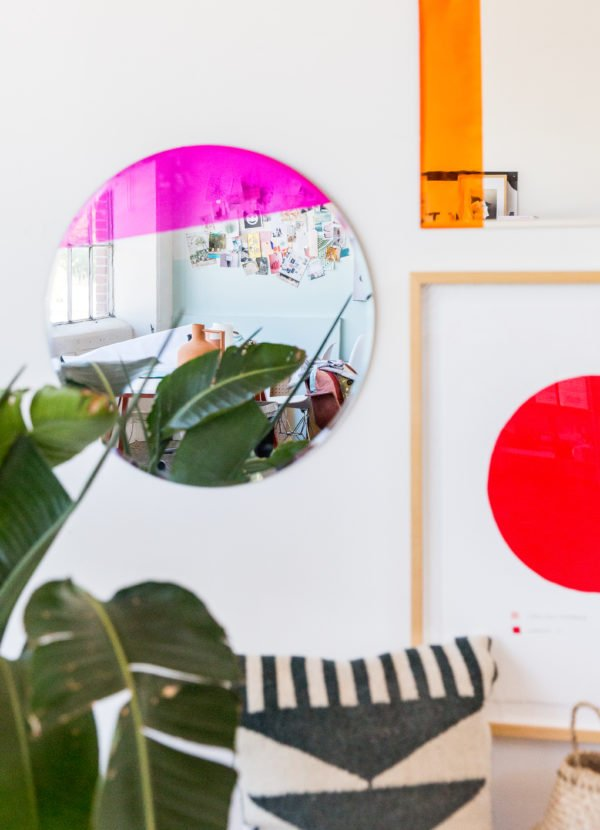 An Easy Color Blocked Mirror DIY for the Entryway