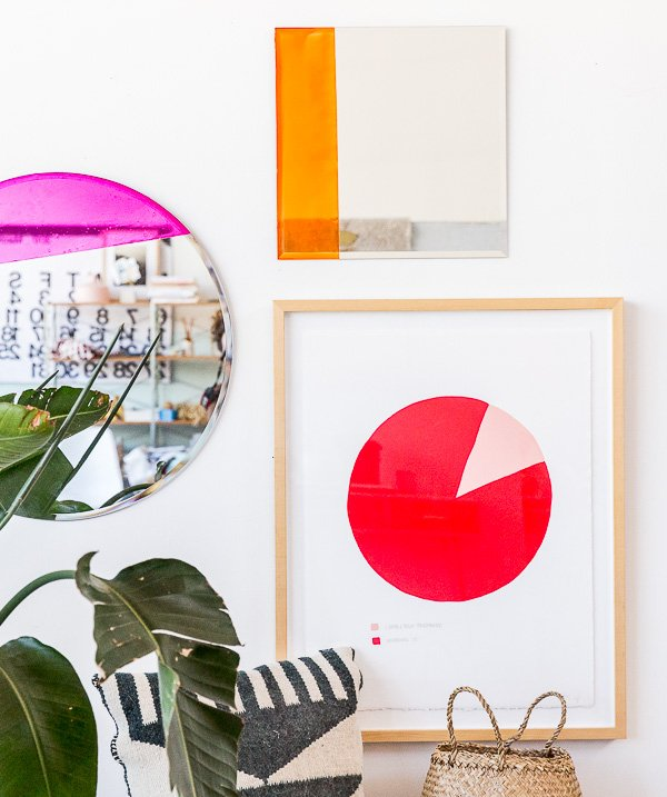 How to make a colorful mirror for an entryway or anywhere else in your home