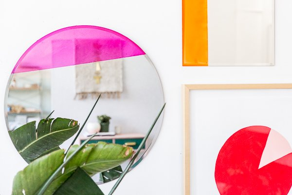 Easy Color Blocked Mirror DIY for the Entryway