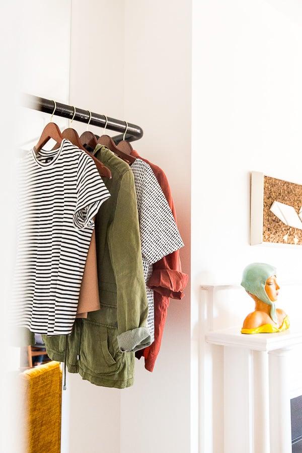 Space-saving closet idea