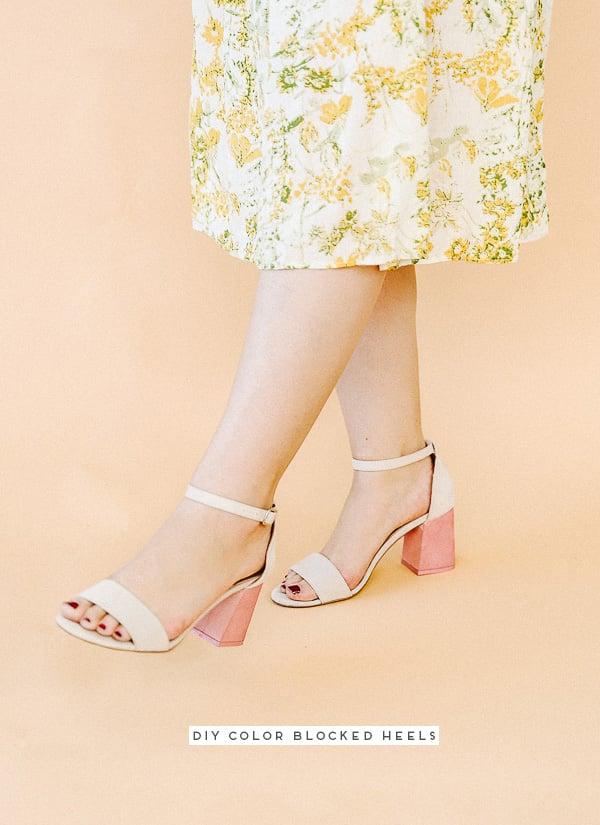 DIY Color Blocked Heels