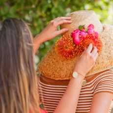 A DIY Flower Hat for Summer + Behind the Scenes of a Photo Shoot