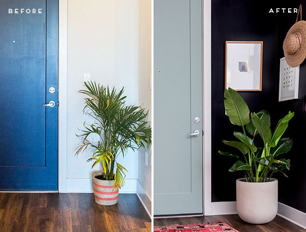 A dramatic (but minimal) entryway makeover.