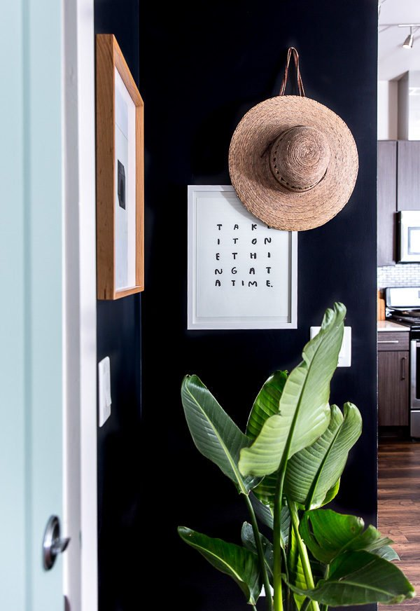 A minimal modern entryway makeover