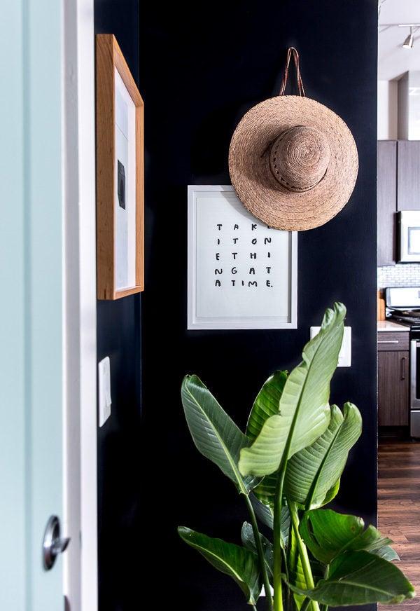 A minimal modern entryway makeover