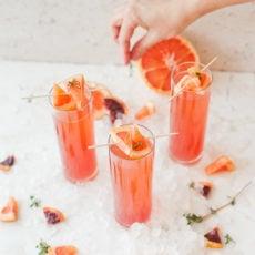 A Blood Orange Grapefruit Mimosas Recipe