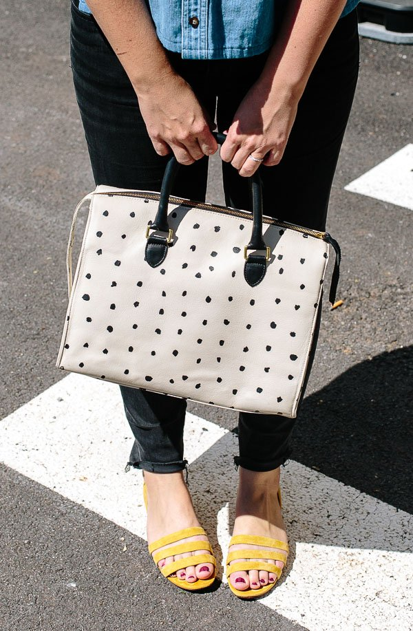 How I turned my fave Clare V bag into a padded camera bag