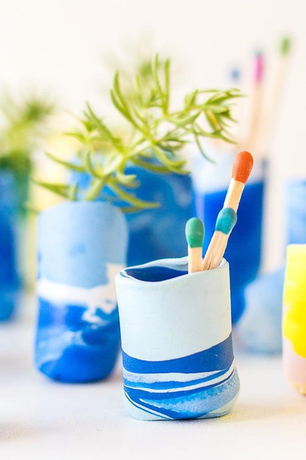 Make It Mini: DIY Marbled Mini Vases