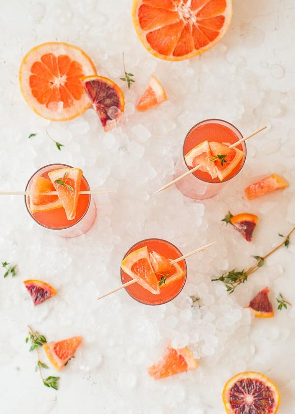 Blood Orange Grapefruit Mimosas Recipe