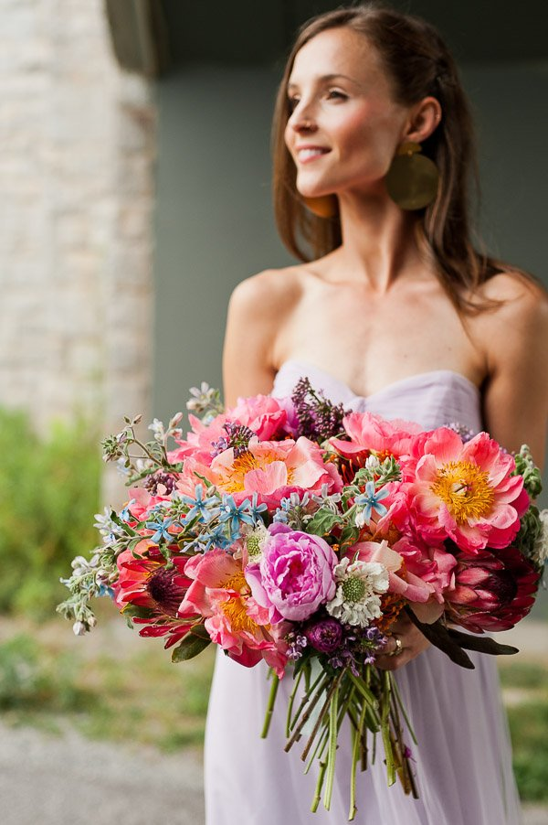 DIY Bridal Bouquet + Pastel Wedding Inspiration