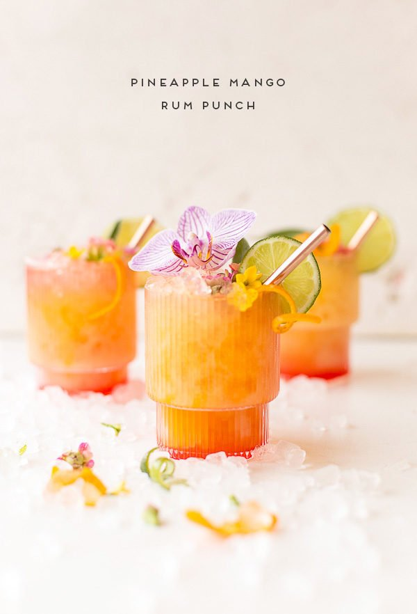 Pineapple mango rum punch recipe