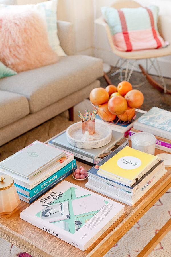 Tips and tricks for how to style a coffee table three ways for How to create a coffee table book