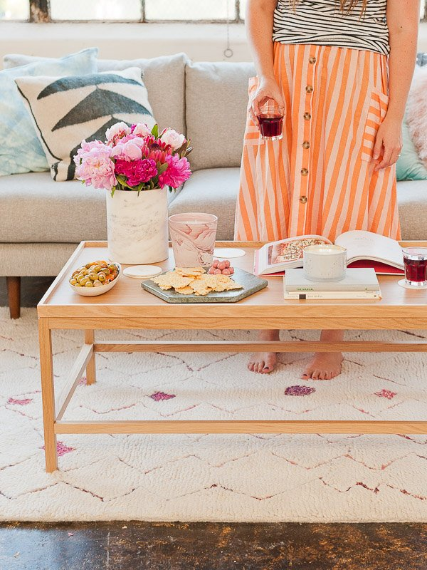 How to style a coffee table (for the entertainer).