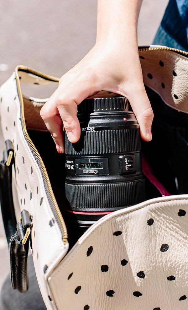 How to turn any bag into a camera bag. Click through for the details.