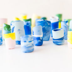 Make It Mini: DIY Marbled Mini Vases