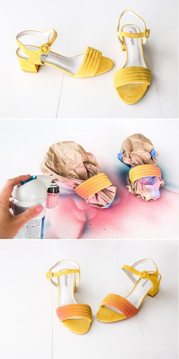 DIY Ombre / Gradient Shoe Makoever