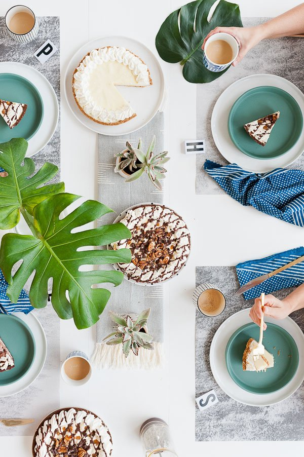 A cool brunch setup with DIY ideas for entertaining at home