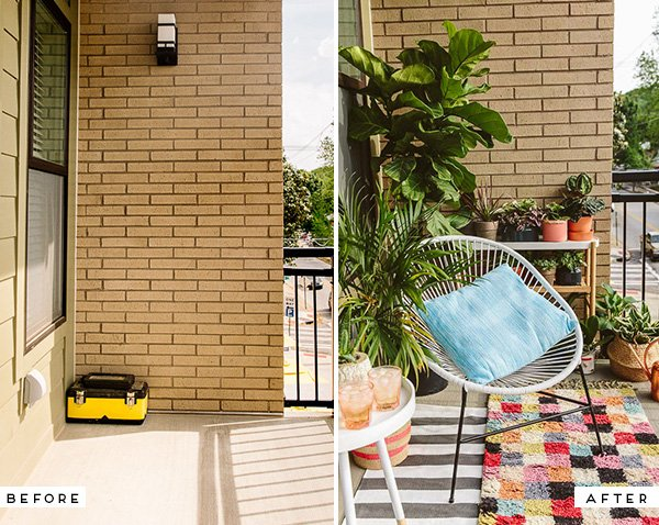 Before and After: Eclectic Balcony Makeover
