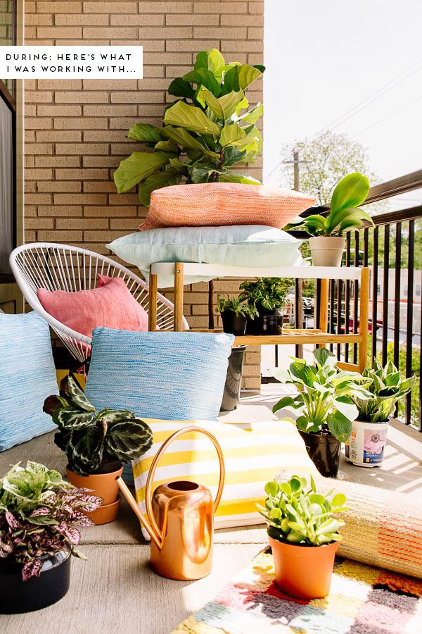 A colorful balcony makoever
