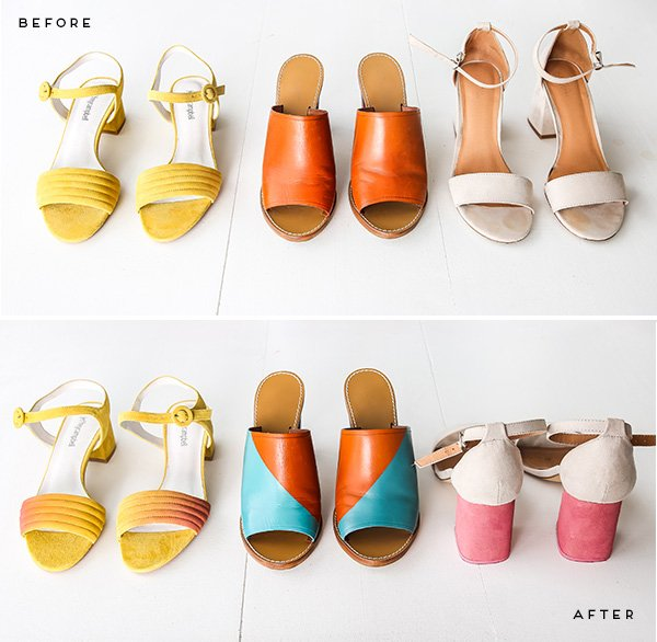 68baa6f95819 Freshen up Old Shoes with this DIY Shoe Makeover (3 Ways) for Spring