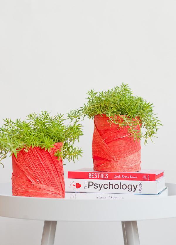 Textured DIY Planter Idea
