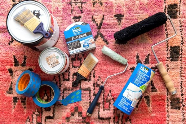 Supplies needed for painted entryway makeover