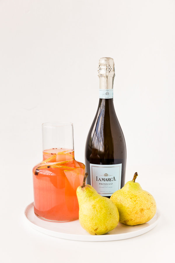 Blackberry pear fizz cocktail for summer