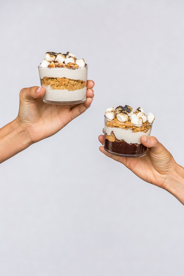 Make-Ahead S'more Cups for Backyard BBQs / Campfire Treats