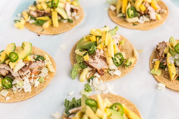 Try this recipe for pineapple mango chicken tacos
