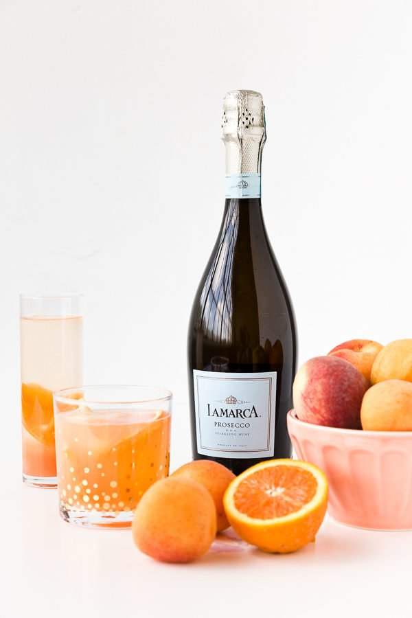 Sparkling white peach and apricot sangria recipe