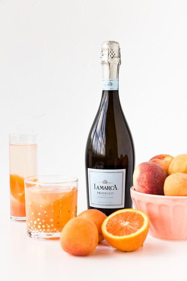 Sparkling white peach and apricot sangria recipe