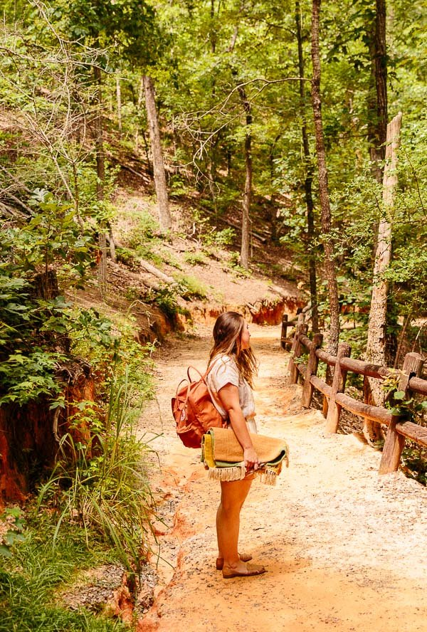 Hiking through Providence Canyon with Brittni Mehlhoff of Paper & Stitch