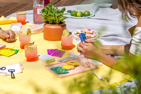 Colorful outdoor entertaining ideas for summer.