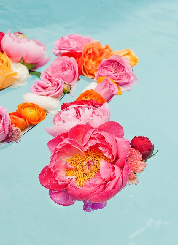 Floating flowers for summer
