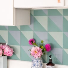 A Budget-Friendly DIY Backsplash Idea + Studio Kitchen Progress (with Before and Afters)