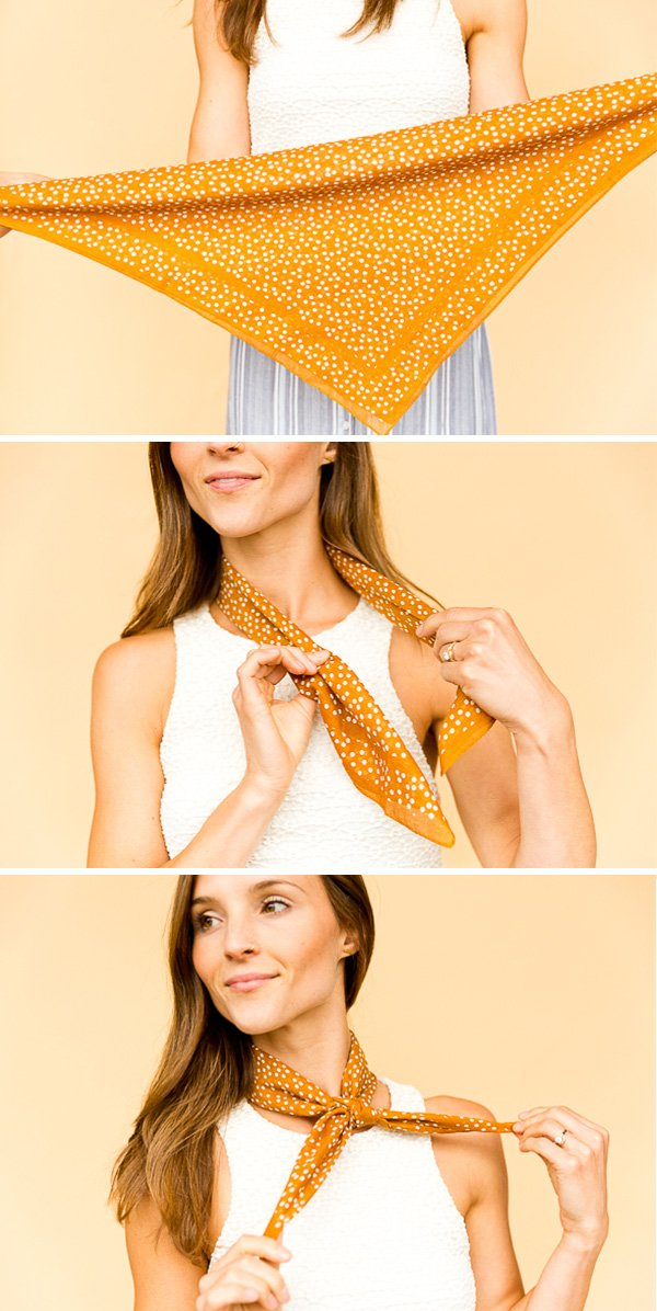 How to Style a Square Bandana - The Standard Neckerchief