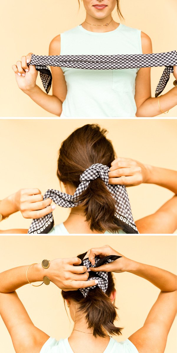 How to Style a Square Bandana - The Prim and Proper Ponytail