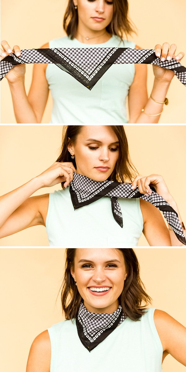 How to Style a Square Bandana - The Mini Neck Bib