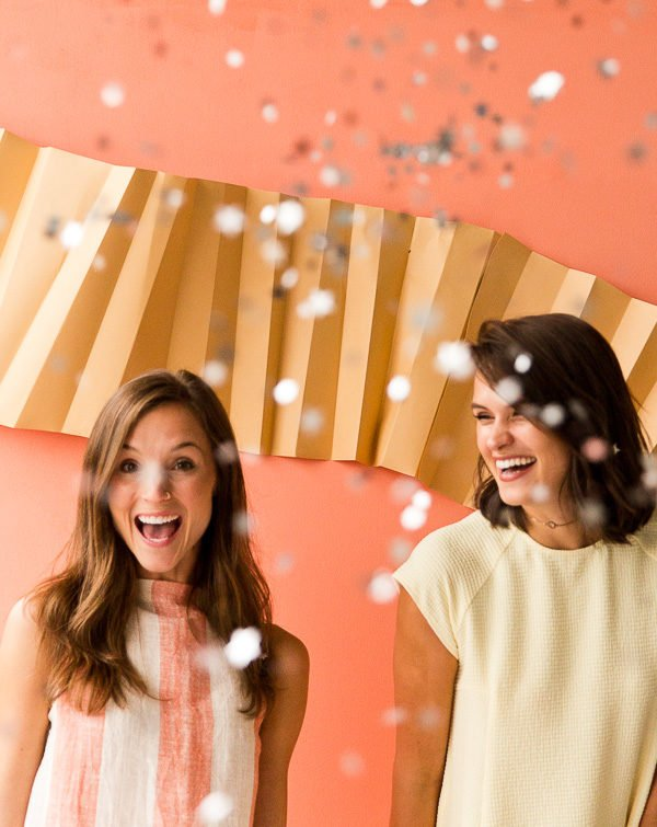 DIY Photo Booth Backdrop + A Painted Pastels Summertime Pie Party With More Entertaining Ideas