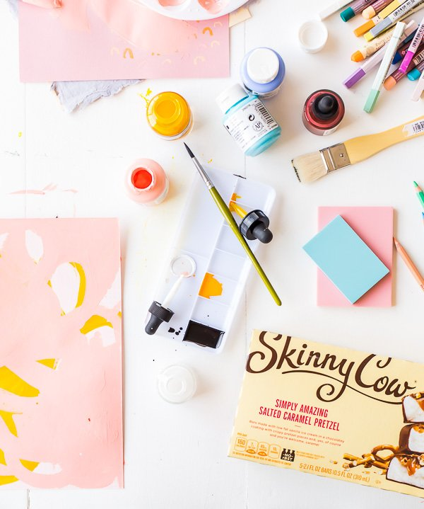 Brittni Mehlhoff's ater work rituals, with Skinny Cow.
