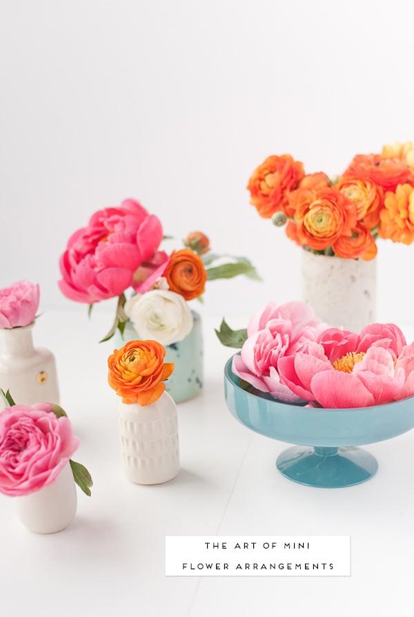 The art of mini flower arrangements