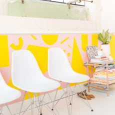 Color Me Geometric: The Makings of a Colorful (DIY) Studio Mural