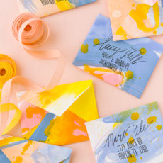 How to Make Painted DIY Envelopes